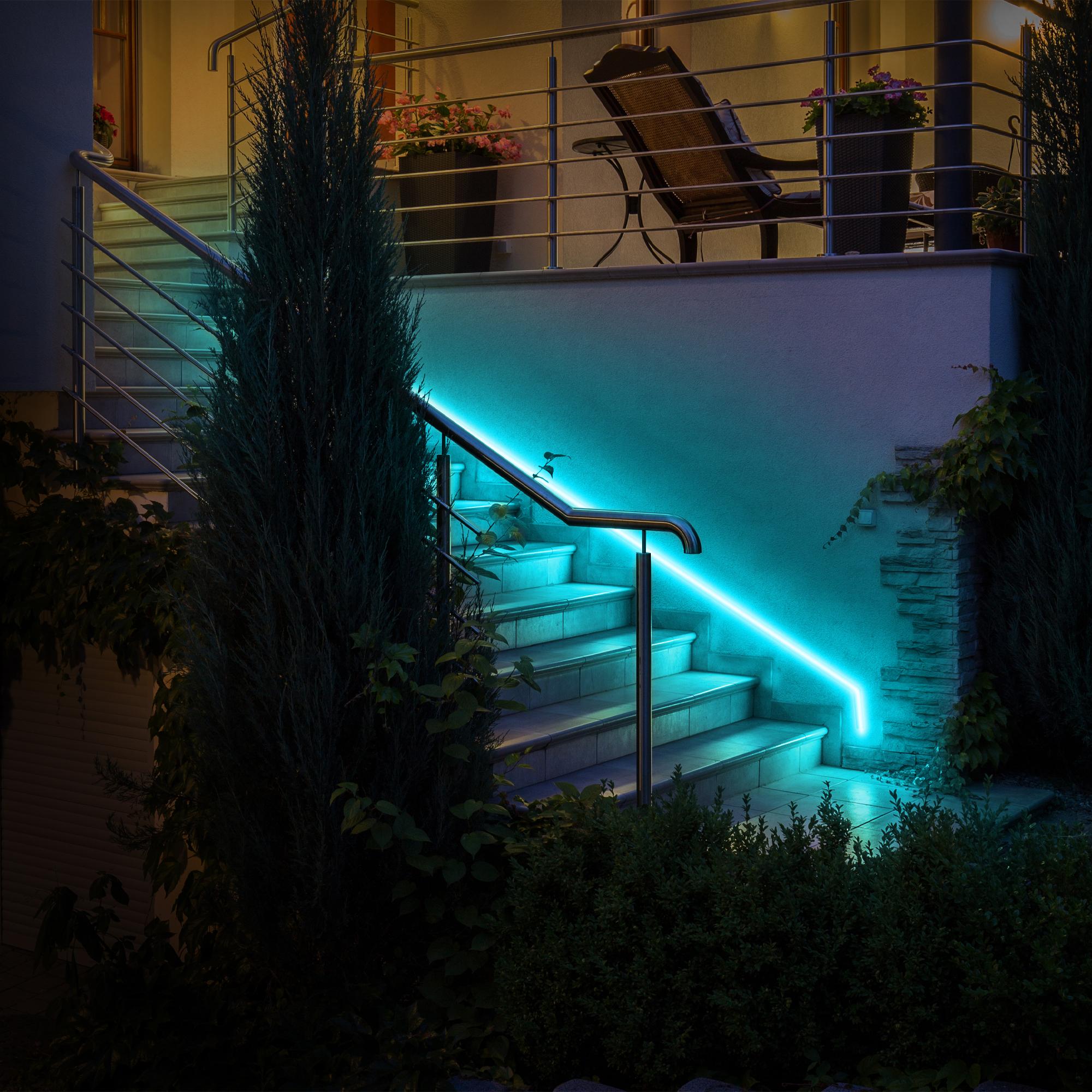 Image of: Neon Smart Multi Color Multi White Indoor Outdoor Led Light Strip 16 4ft Monster Illuminessence