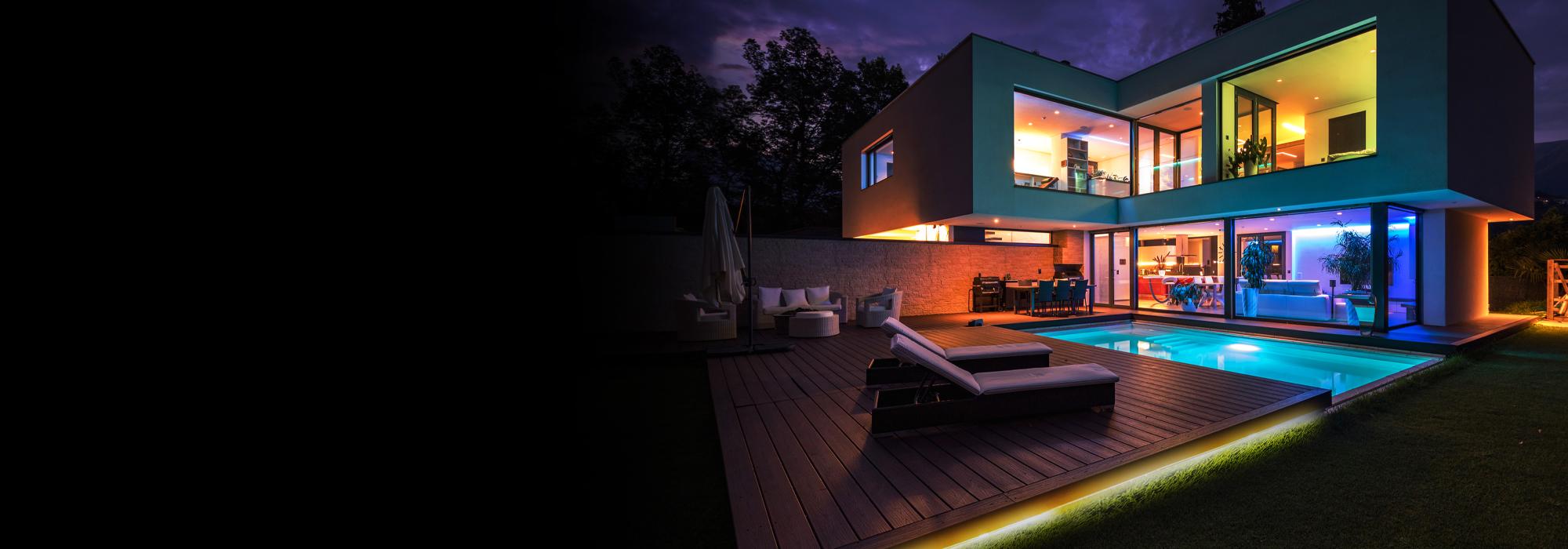 Neon Smart Multi Color Multi White Indoor Outdoor Led Light Strip 16 4ft Monster Illuminessence